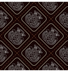 Seamless pattern with Celtic art vector image