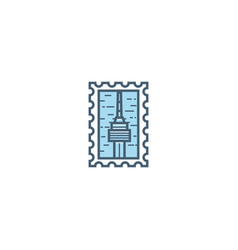 seoul stamp vector image