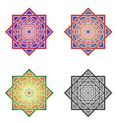 Set MandalasSquare Ornaments vector
