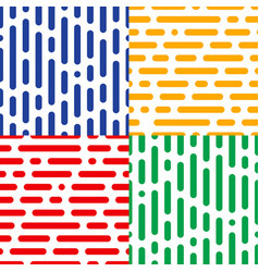 Set of four seamless halftone patterns abstract vector