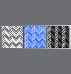 set seamless patterns vector image