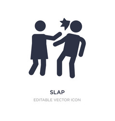 Slap icon on white background simple element from vector