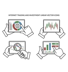 Stock exchange business hands vector