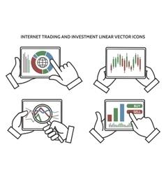 Stock exchange business hands vector image