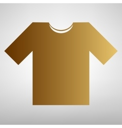 T-shirt sign Flat style icon vector image