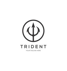 trident logo template icon design vector image