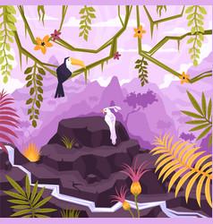 Tropical liana landscape composition vector