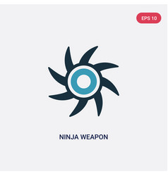 Two color ninja weapon icon from user concept vector