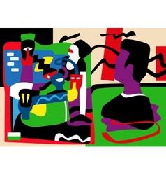 virtual life psychology - abstract vector image