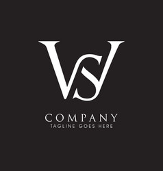 Ws monogram logo letter based vector