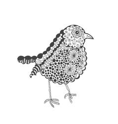 Zentangle stylized baby chick vector image