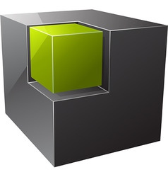 black cube vector image vector image
