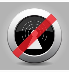 gray chrome button - no transmitter vector image