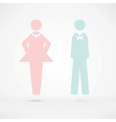 Men and Women Wc sign Silhouette vector image