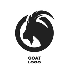 Silhouette of the goat monochrome logo vector image vector image
