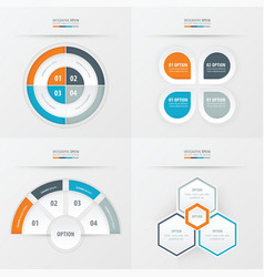 template design 4 item orange blue gray color vector image vector image