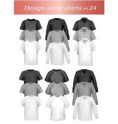 tshirt templates vector image
