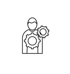 management icon vector image