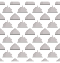 Restaurant cloche pattern seamless vector image