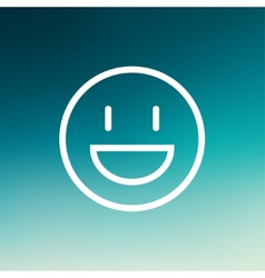Smiling thin line icon vector image vector image