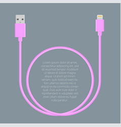 usb data cable template vector image