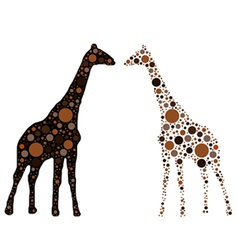 dotted giraffe vector image vector image