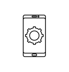 mobile configuration icon vector image vector image