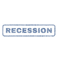 recession textile stamp vector image vector image