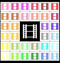 reel of film sign felt-pen 33 colorful vector image