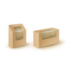 Set of cardboard take away packaging for sandwich vector