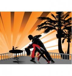 tango on the beach vector image vector image