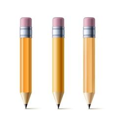 Yellow pencils vector image vector image