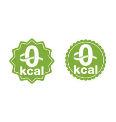 0 kcal for packaging zero calories diet food vector