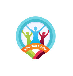 2020 football logo modern professional sport vector image