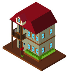 3d design for two stories house vector image