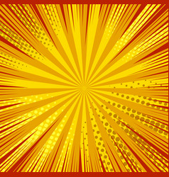 Abstract dynamic explosive orange background vector