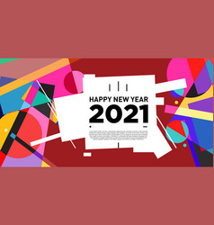 Abstract geometric background for new year 2021 vector