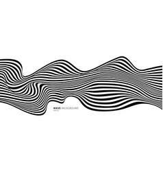 abstract stripes black and white optical art wave vector image