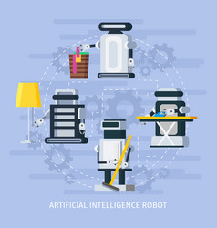 artificial intelligence composition vector image