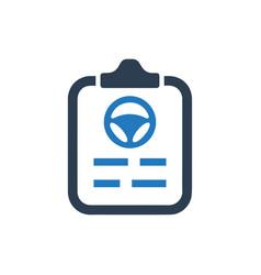 Auto insurance policy icon vector
