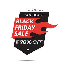 Black friday label price tag sale banner badge vector