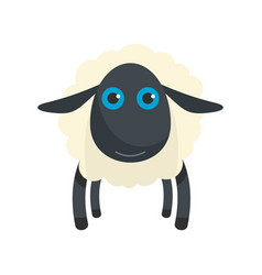 Black sheep icon flat style vector
