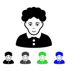Brunette woman flat icon vector