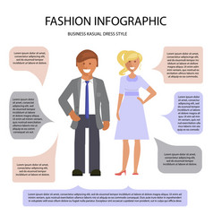 business cusual dress style vector image