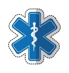 caduceus symbol isolated icon vector image
