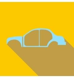 Car frame icon flat style vector