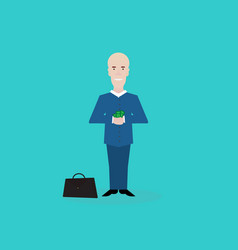 cartoon businessman with money vector image