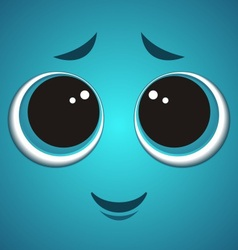 Cartoon monster face vector