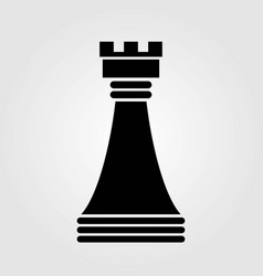 chess rook icon isolated on white background vector image