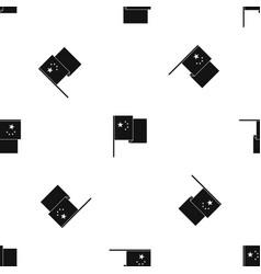 China flag pattern seamless black vector